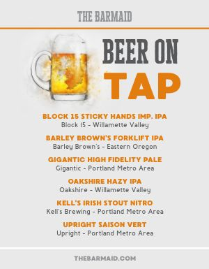 Beer on Tap Flyer