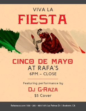 Cinco de Mayo Independence Flyer
