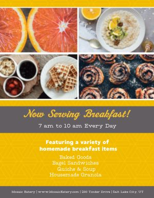 Breakfast Service Flyer