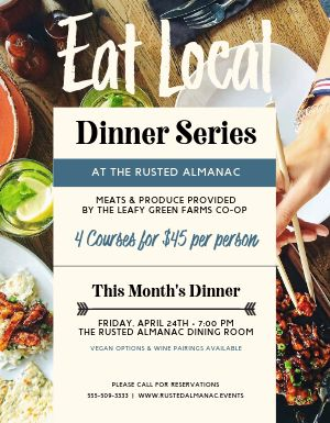 Eat Local Dinner Flyer