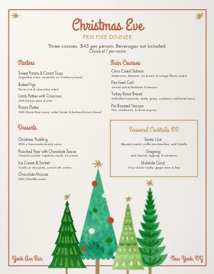 Christmas Tree Menu