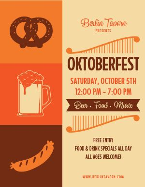 Oktoberfest Day Party Flyer