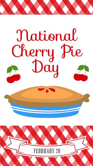 Cherry Pie Day Facebook Story