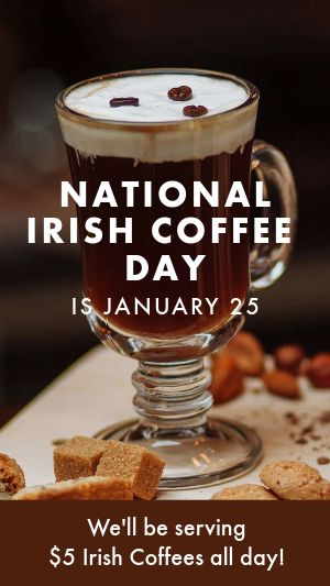 Irish Coffee Facebook Story