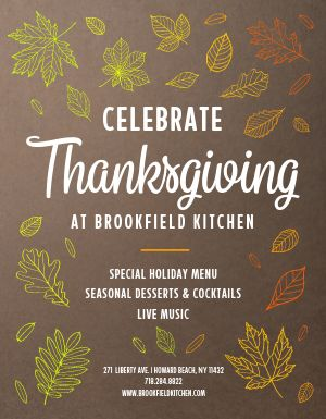 Thanksgiving Special Menu Flyer