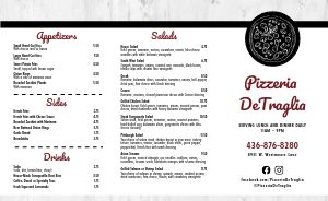 Red Hot Pizza Takeout Menu