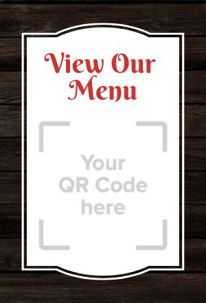 Menu QR Code Table Sign