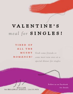 Valentines Meal Flyer