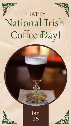 Irish Coffee Day Facebook Story