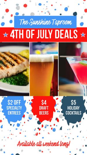 4th of July Deals Instagram Story