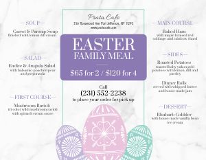 Easter Landscape Menu