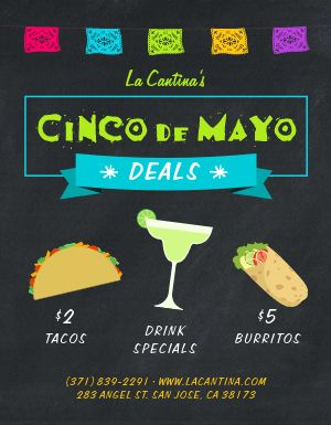 Cinco De Mayo Deals Sign