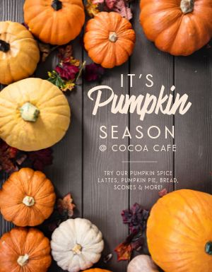 Pumpkin Season Flyer