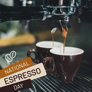 National Espresso Day Instagram Post
