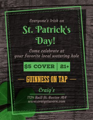 St Patricks Bar Flyer