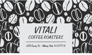 Black and White Coffee Business Card
