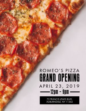 Pizza Opening Flyer