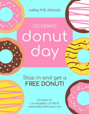 Colorful Donuts Flyer
