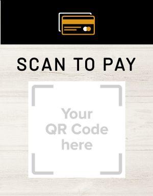QR Code Pay Signage