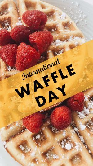 Waffle Day Instagram Story