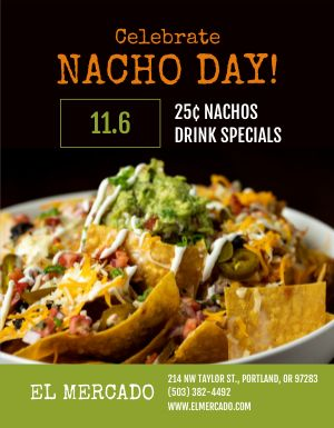 Nacho Day Flyer