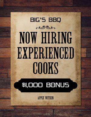 Hiring Job Flyer
