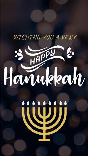 Hanukkah Instagram Story