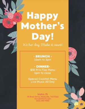 Mothers Day Announcement Flyer