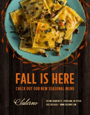 Fall Is Here Flyer