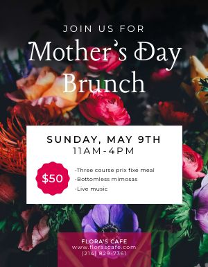 Mothers Day Brunch Sign
