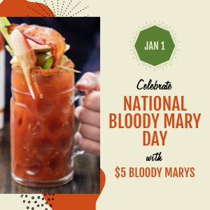 Bloody Mary Drink Instagram Post