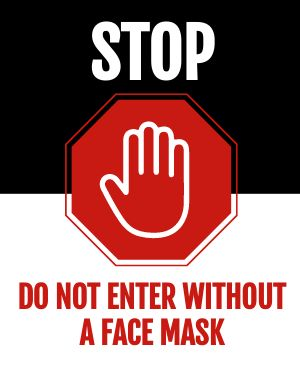 Stop Mask Poster