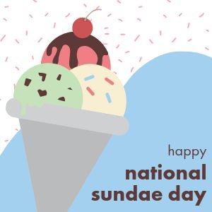 National Sundae Day Instagram Post