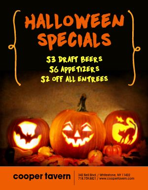 Halloween Spooky Specials Flyer
