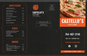 Pizza Slice Takeout Menu Mailer