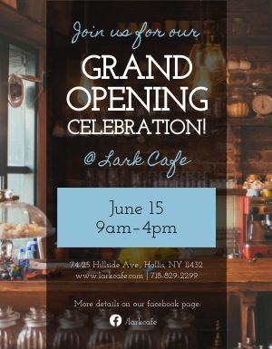 Grand Opening Promotion Flyer