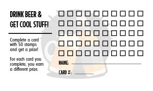 Beer Club Punch Card