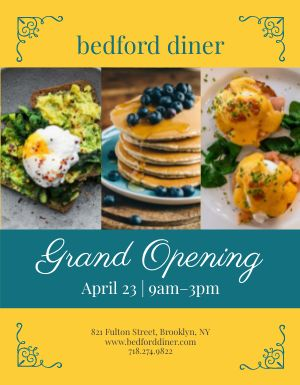 Grand Opening Breakfast Flyer