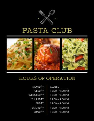 Italian Operation Hours Flyer