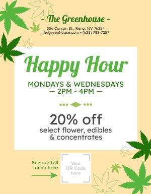 Dispensary Happy Hour Flyer