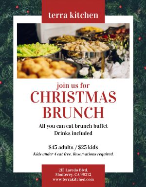 Christmas Brunch Buffet Flyer