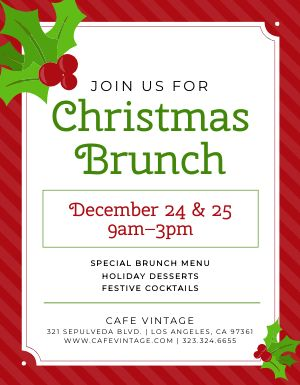 Christmas Special Brunch Flyer