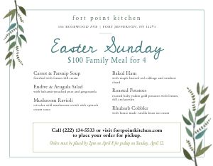 Easter Family Landscape Menu