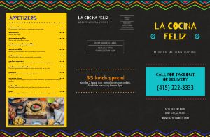 Mexican Rainbow Menu Mailer