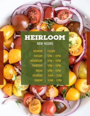 Fresh New Hours Flyer