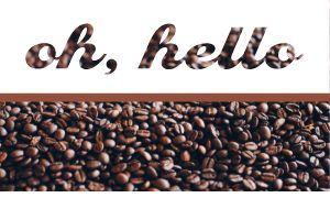 Hello Coffee Business Card