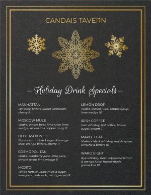 Christmas Drink Menu