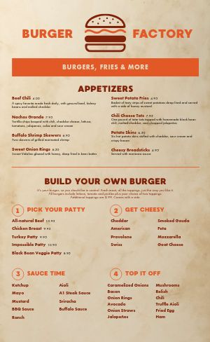 Custom Burger Menu