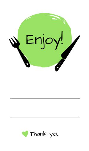 Enjoy Food Label
