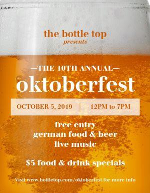 Oktoberfest Lager Flyer